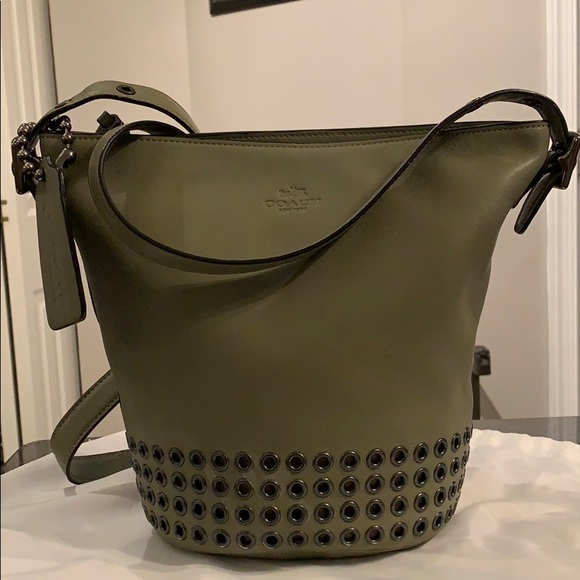 c335e4447c53 Coach Handbags - Coach Bleecker small duffle bag olive green